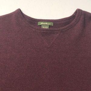 EDDIE BAUER Women's Medium Purple Cotton Sweater